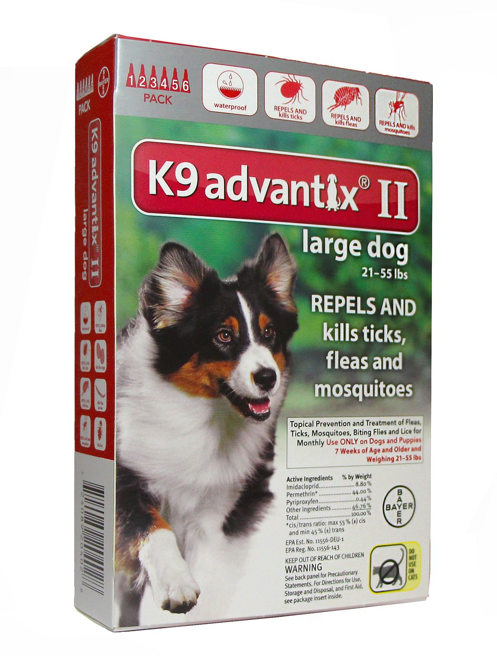 12 Month K9 ADVANTIX Red (For Dogs 21 To 55lbs) by K-9 Advantix
