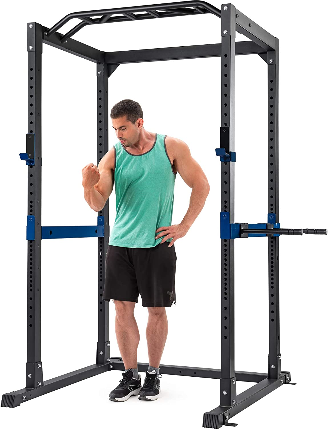 Amazon.com: Merax Athletics Fitness Power Rack 1400lbs Olympic Squat Cage  Home Gym (Full Cage): Sports & Outdoors