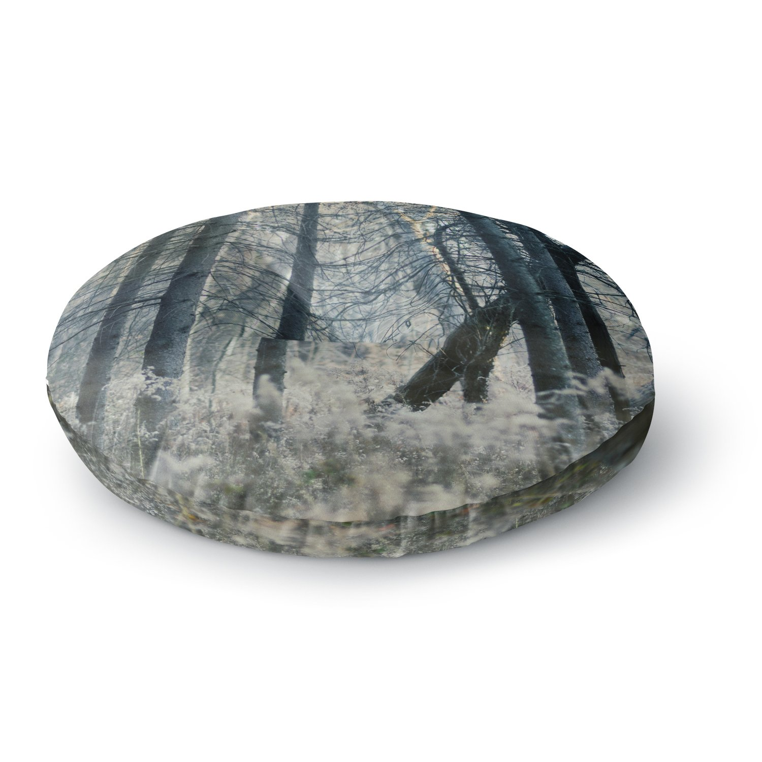 KESS InHouse Chelsea Victoria Out of the Woods Nature Photography Round Floor Pillow, 26''
