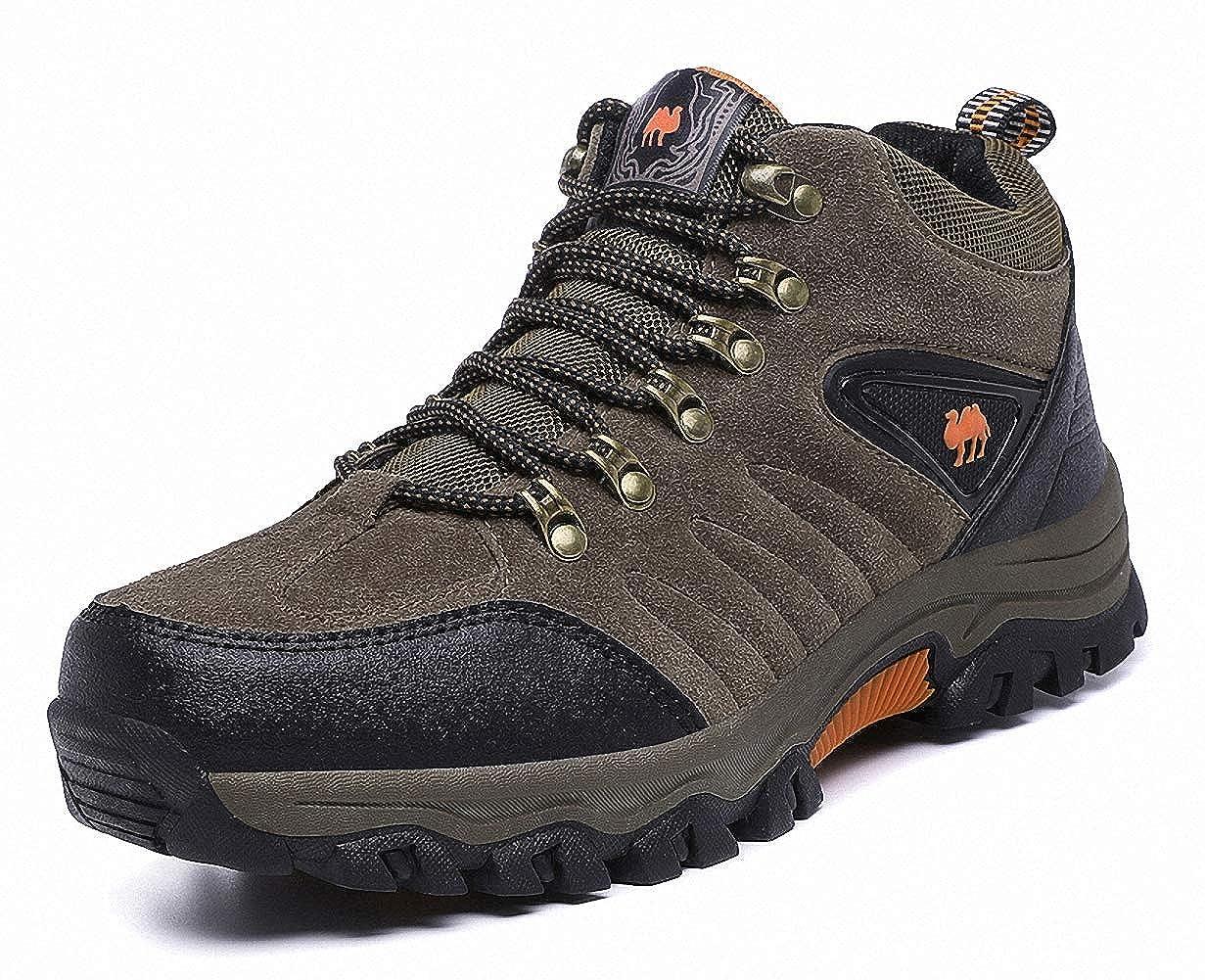 Brown 7 D(M) US = 9 5 8 (heel to toe 24.5cm) ZHENZHONG Men's Warm Faux Fur Hiking Boots Mountain Trekking Outdoor shoes