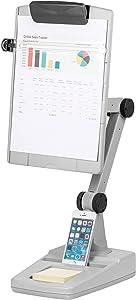 Fellowes Flex Arm Weighted Base Copyholder, Platinum/Grey (21128)