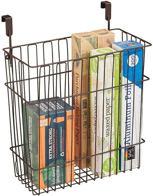 Amazon Com Mdesign Metal Wire Hanging Over Door Kitchen Storage