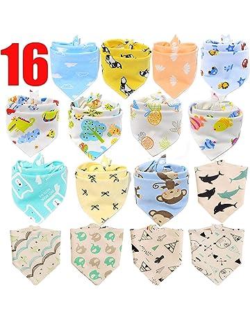18b01a38f1c SLOSH 16 Baberos Bebe Bandanas Bufanda Toalla Drool Babas Tela para Bebé  Niña Niño Recien Nacido