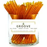 Groove Wildflower Honey Sticks | Local - Kosher Certified - All-Natural - Honey Stix | 50 Pack | Honey Sticks For Tea…