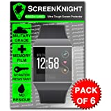 ScreenKnight® Fitbit IONIC Screen Protector Military shield - Pack of 6