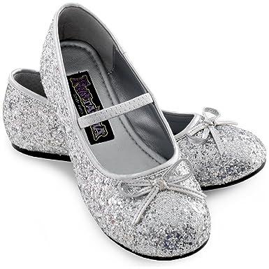 c9e193bfaf67 Amazon.com: Sparkle Ballerina Child Shoes (silver): Clothing