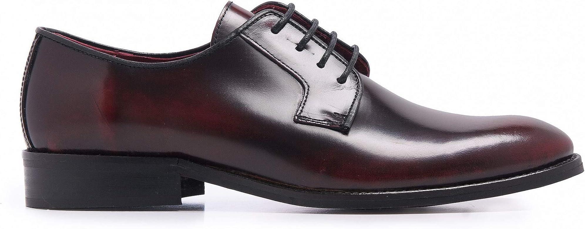 Castellanisimos Zapato Blucher Piel Florentic Burdeos Hombre 44 EU Burdeos