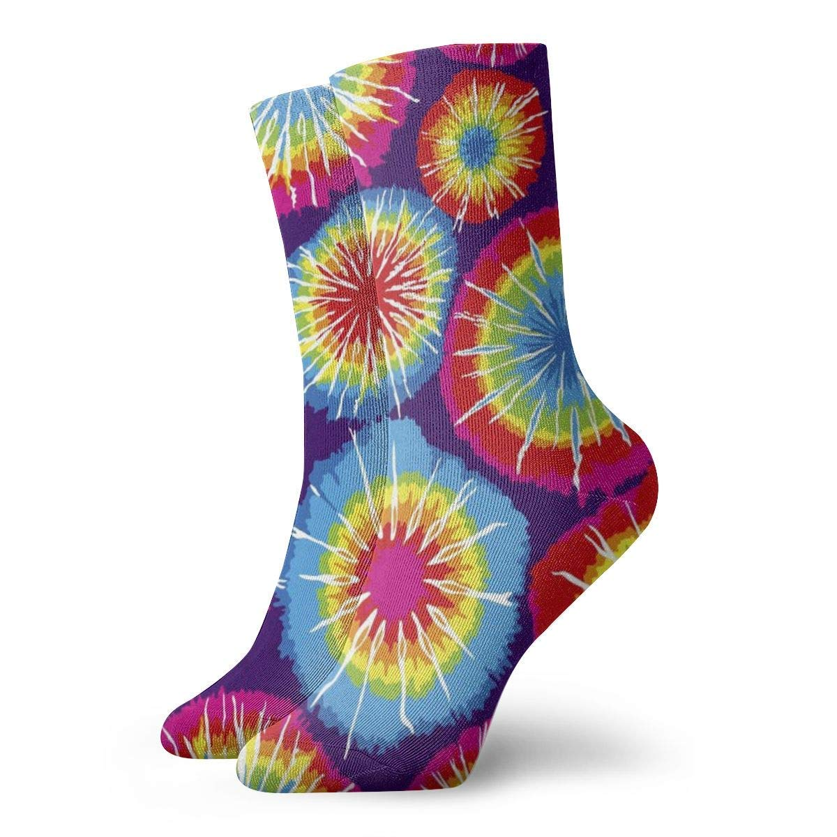 yting Calcetines de corbata abstractos, de algodón al azar, unisex ...