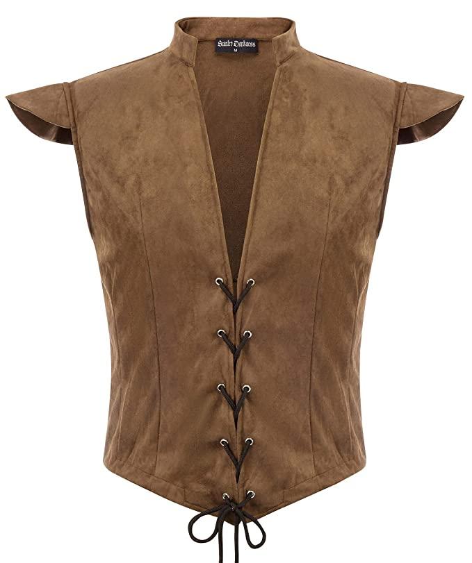 Men's Steampunk Vests, Waistcoats, Corsets SCARLET DARKNESS Mens Renaissance Steampunk Lace-up Vest Gothic Waistcoat $25.99 AT vintagedancer.com