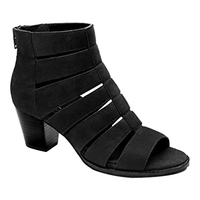 b837eec19a23 Vionic Womens Aloft Harlow Ankle Boot Black Size 5