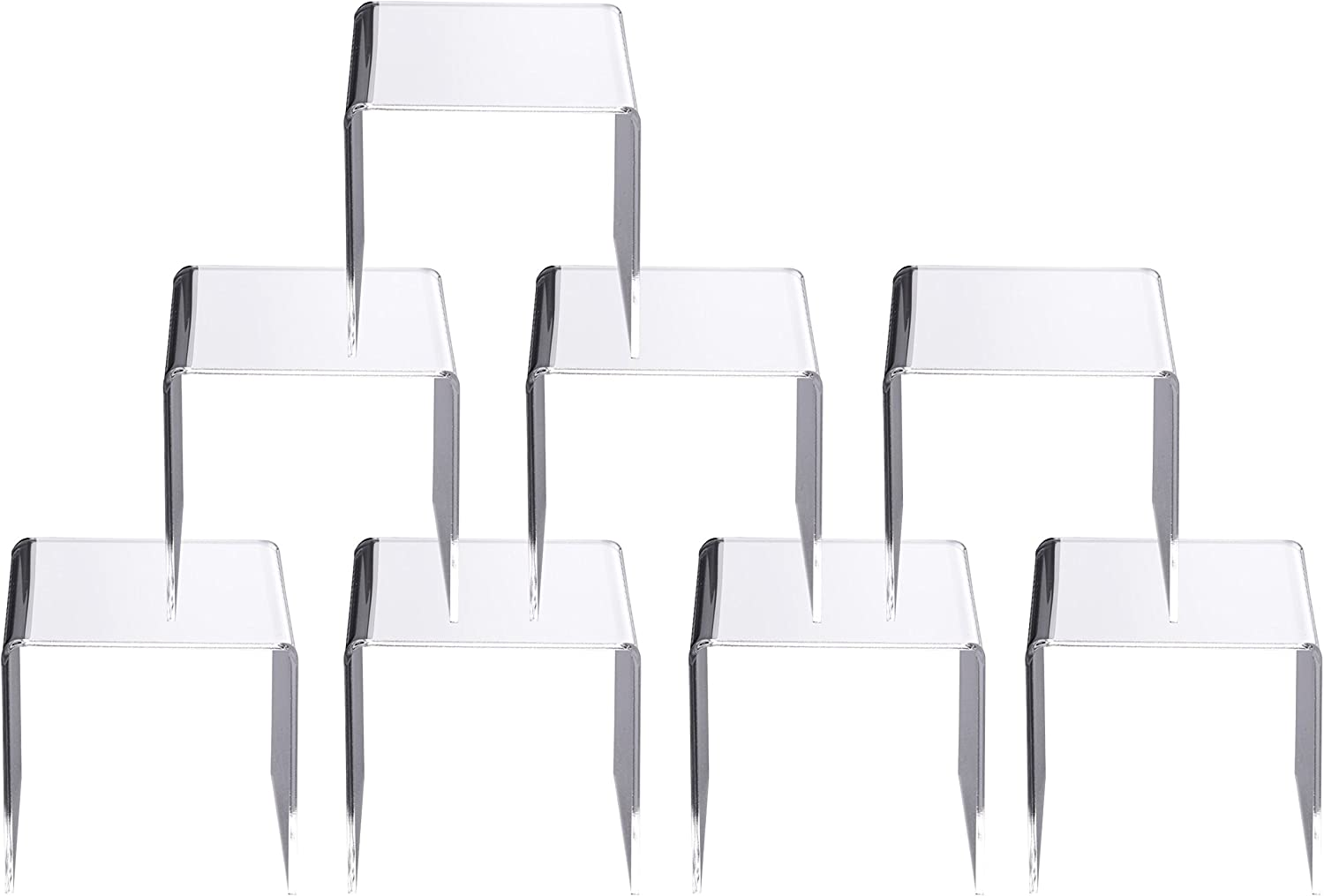 Jusalpha Clear Acrylic Riser Stand Lot of 8 (6x6x6 Inches)