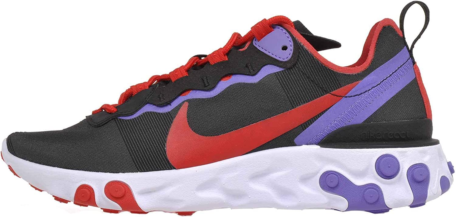 Nike Women's React Element 55 Running Shoes Black / University /Red