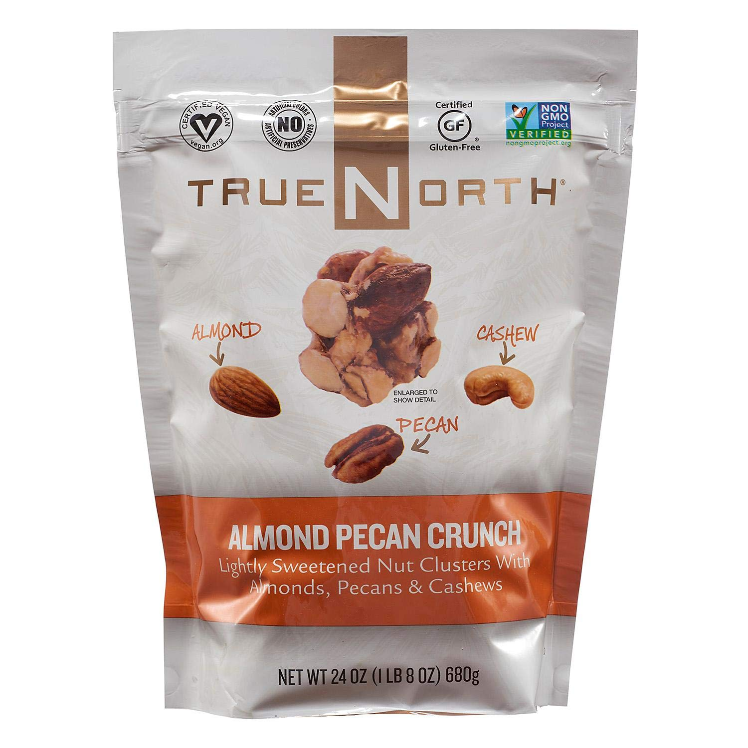 TrueNorth Almond Pecan Cashew Clusters Net Wt 24 Oz (680g) (Pack of 2)