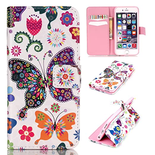 8 opinioni per Xf-fly Custodia Cassa Di Cuoio per Apple iPhone 6 / 6S,portafoglio / wallet /