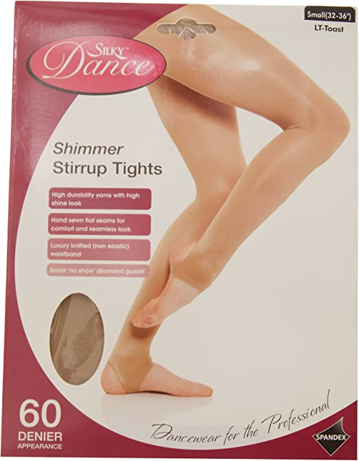 Silky Childrens Girls Stirrup Foot Shimmer Dance Ballet Tights