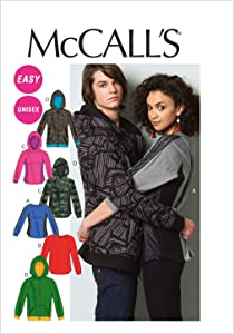 McCall Patterns M6614XN0 Misses'/Men's Tops and Jacket Sewing Pattern, Size XN (XLG-XXL-XXXL)