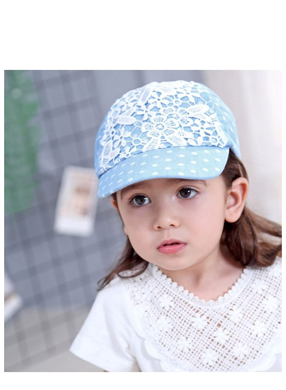BonjourMrsMr Baby Girls Lovely Lace Polka Dot Cotton Baseball Cap Sun Visor Hat 3m-4T