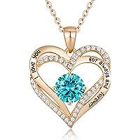 CDE Collares Mujer Corazón de Plata 925 Collares Colgante de Mujer Birthstone Collars de Mujer, con Caja Regalo, Joyas…