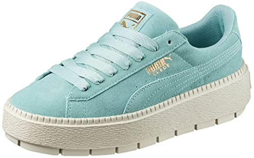 7b1ab3244153 Puma Women s Suede Platform Trace Aquifer Blue Flower 6.5 B US  Amazon.in   Shoes   Handbags