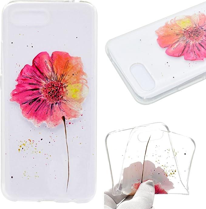 Fleur de Papillon HopMore Coque Huawei Honor 10 Silicone Souple Transparent Motif Swag Dr/ôle Fleur de Papillon /Étui Antichoc Ultra Mince Fine Gel Bumper Case Housse Transparente Design
