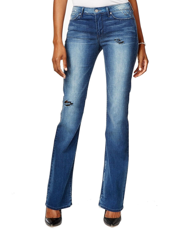 Calvin Klein Blue Indigo Womens Stretch Flare-Leg Jeans