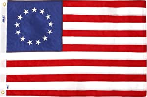 ANLEY EverStrong Series Betsy Ross Flag 2x3 Foot Heavy Duty Nylon - Embroidered Stars and Sewn Stripes - 4 Rows of Lock Stitching - US Historic Patriotic Banner Flags with Brass Grommets 2 X 3 Ft
