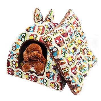 Authda Pets - Cama de Tienda de campaña para Gatos Grandes y pequeños con Saco de