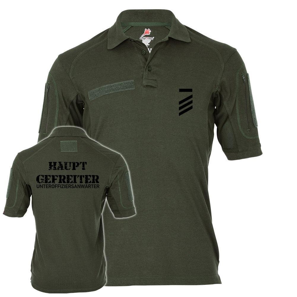 Tactical Poloshirt Alfa - Hauptgefreiter Unteroffiziersanwärter HptGefr UA Dienstgrad Bundeswehr  19267