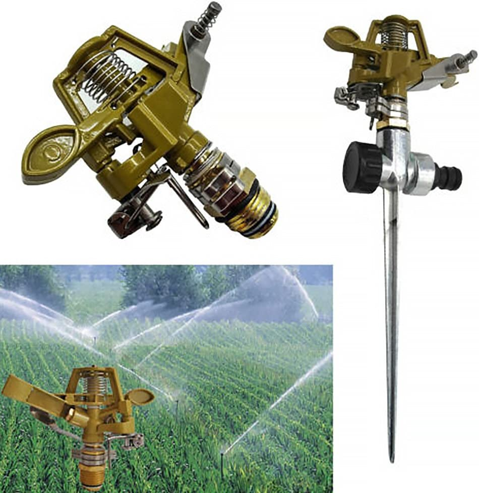 Jardin métal spike pelouse gazon tuyau 360 degré eau impulsion arrosage