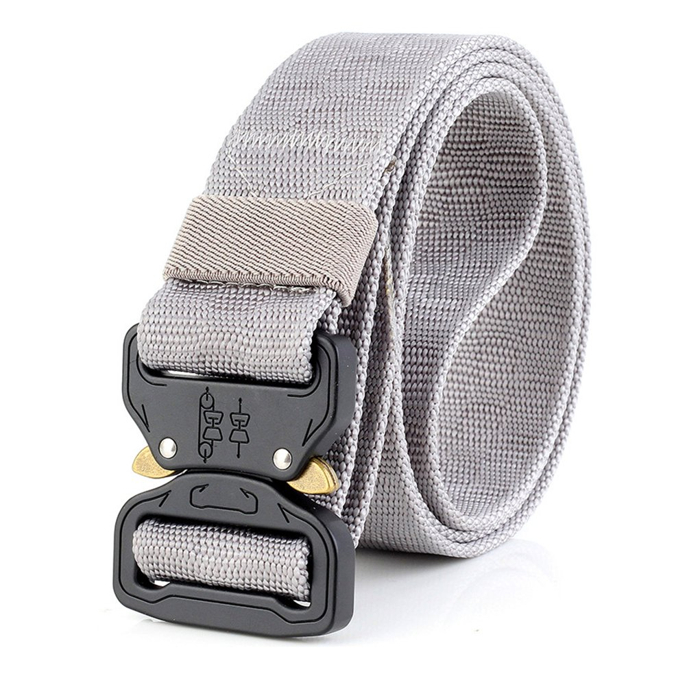 Thickyuan Men's Tactical Belt Heavy Duty Webbing Belt Adjustable Military Style Nylon Belts with Metal Buckle|MOLLE Tactical CQB Rigger|multiple choices by Thickyuan (Image #4)