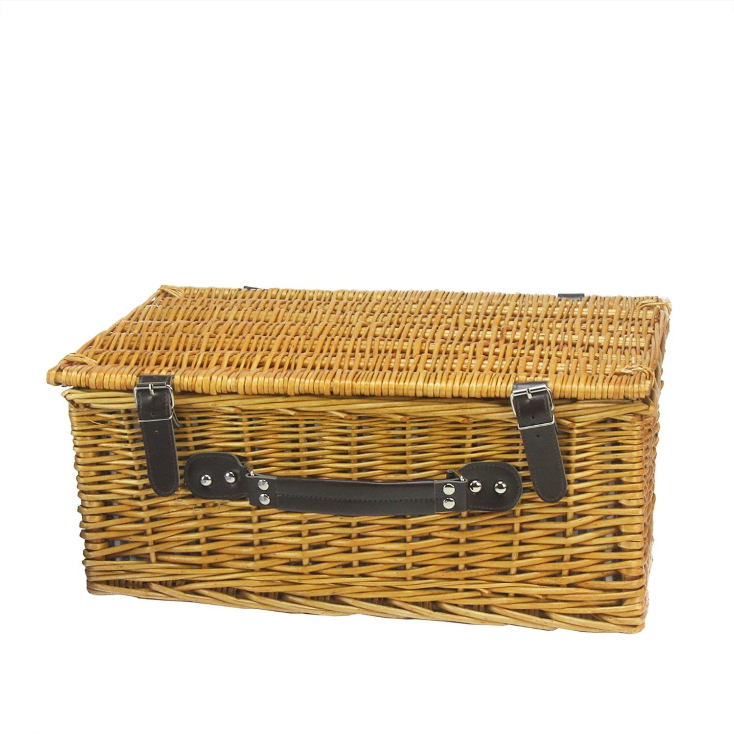 Northlight CH36831 Hand Woven Honey Willow Picnic Basket Set by Northlight (Image #2)