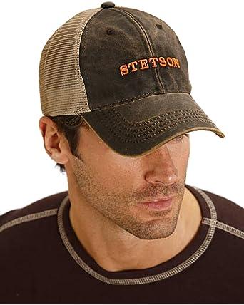 Stetson Men s Trucker Baseball Cap Brown One Size at Amazon Men s ... b852f80b437