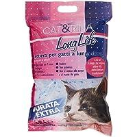 Cat&Rina Long Life Lettiera per Gatti a Lunga Durata ai Cristalli di Silicio - 5.5 L