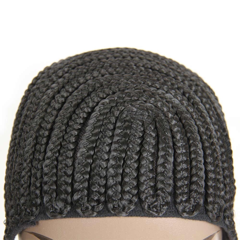 VRHOT (3Pcs/Lot) Braided Wig Cap Cornrow Crochet Weaving Wig Cap for Making Wigs with Combs Synthetic Weave Hair Nets Sew in Adjustable Straps Elastic Net Breathable (3pcs/lot Cornrow Cap) by VRHOT (Image #2)