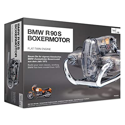 BMW R/90-S Flat Twin Airhead Engine Model Kit with Collector's Manual: Toys & Games