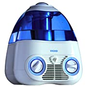 Vicks Starry Night Cool Moisture Humidifier, Vicks Humidifier for Bedrooms, Baby, Kids Rooms, Light Up Star Display, 1 Gallon With Auto Shut-Off 24 Hours of Moisturizing, Use With Menthol VapoPads