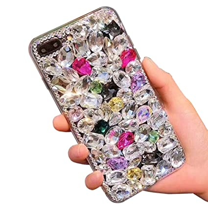 best service b7f49 c2920 Bling Diamond Case for Samsung Galaxy S10,Aearl 3D Homemade Luxury Sparkle  Crystal Rhinestone Shiny Glitter Full Clear Stones Back Phone Cover with ...