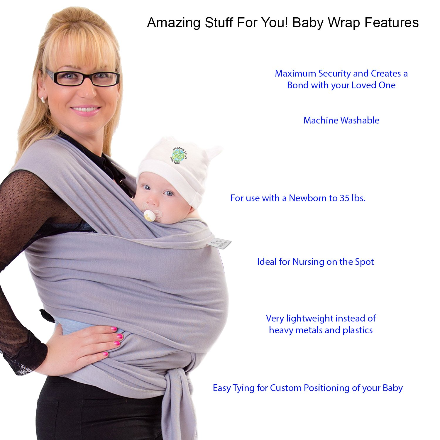 Amazon Com Mom Me Baby Wrap Baby Carrier 4 In 1 Multi Use