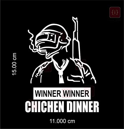 Isee 360 Winner Winner Chicken Dinner Pubg Logo Car Sticker