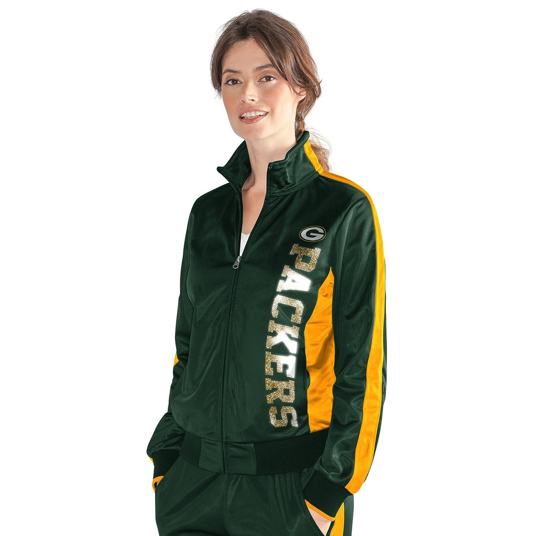G-III Womens Drop Back Track Jacket Medium Green