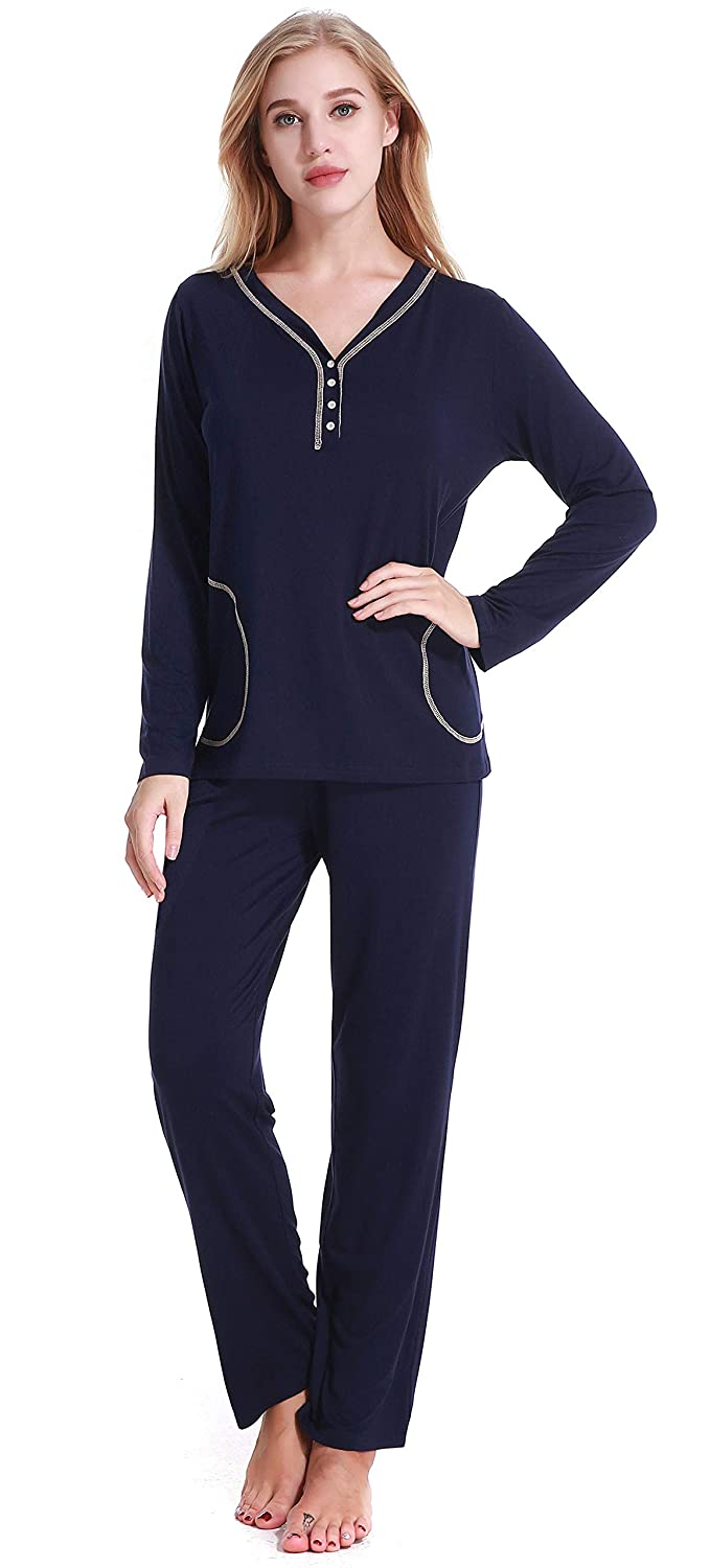 NORA TWIPS Pajamas Women's Long Sleeve Sleepwear Soft Pj Set