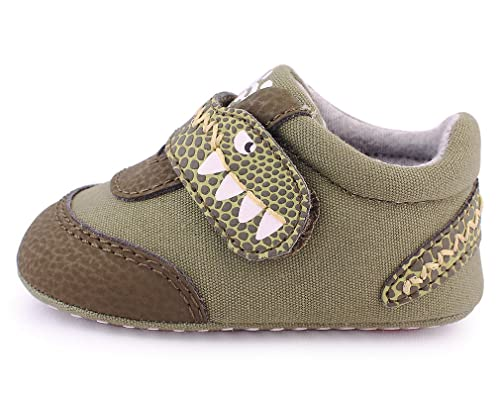 90bd1dbe0 Cartoonimals Zapatos para bebé niños niñas Infantil Primeros Pasos Piel  Suave Cuero Zapatillas Dinooo Green 18  Amazon.es  Zapatos y complementos