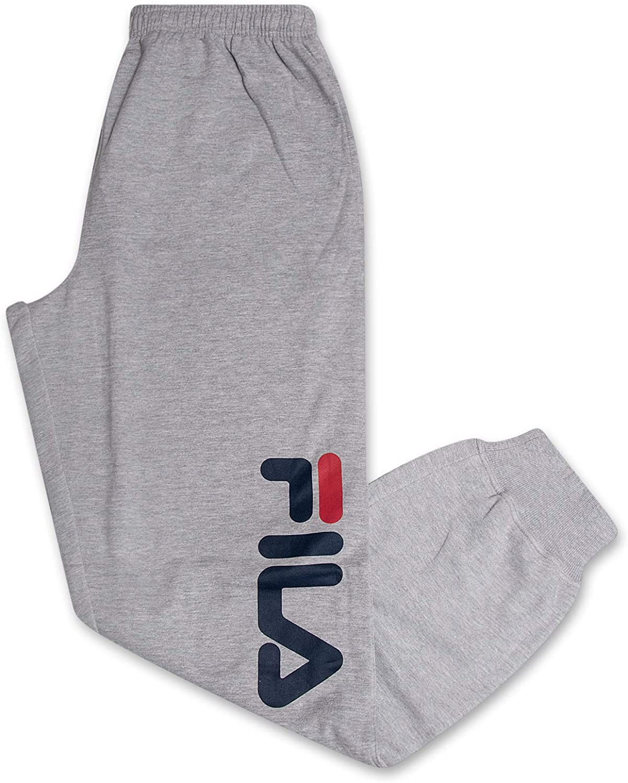 Fila Sweatapnts for Men Big and Tall Cotton Fleece Jogger Sweatpants