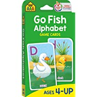 School Zone - Go Fish Alphabet Game Cards - Ages 4 and Up, Preschool to First Grade, Uppercase and Lowercase Letters…