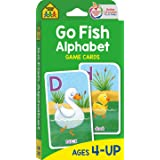 School Zone - Go Fish Alphabet Game Cards - Ages 4 and Up, Preschool to First Grade, Uppercase and Lowercase Letters, ABCs, W