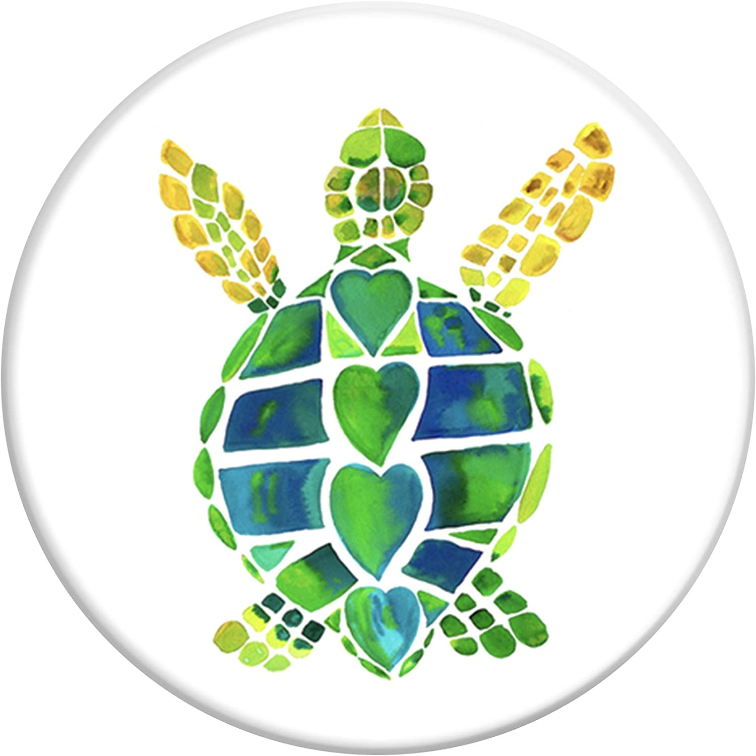 PopSockets Wireless Stand for Smartphones & Tablets - Turtle Love