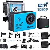 WIFI Underwater Camera HD 1080P Water Camera 170 Degree Angle Action Camera Waterproof 98FT with 19PCS Accessories for Kids, Diving, Surfing, Swimming, Snorkeling, Motorcycle and Water Sports