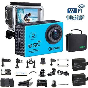 Amazon.com: WIFI Action Camera Waterproof 170 Degree Angle ...