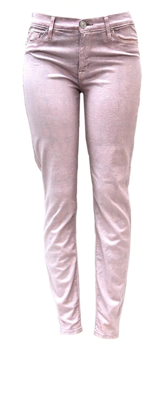 HUDSON Womens Skinny Nico Foil Stingray Jeans Pink Belize 160715TAG