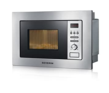 SEVERIN MW 7880 Microondas encastrable 2 en 1, con función Grill, incluso rejilla de Grill y plato giratorio con el diámetro 24,5 cm, 800 W, color ...